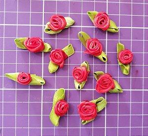 Flor de Rococó com folha Vermelho