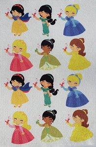 Princesas e passarinhos  Aplique para Dedoche