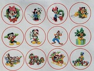 Bolinha Natal- Mickey 6cm