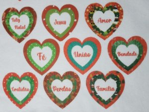 Coração Triplo de Natal 3