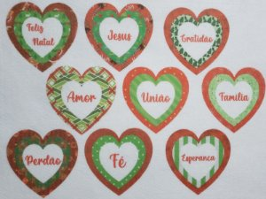 Coração Triplo de Natal 7