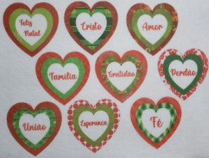 Coração Triplo de Natal 8