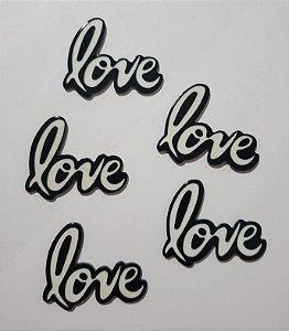 Aplique primavera - verão -  Love Unidade 4,5x4,5 Cm