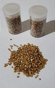 Strass Dourado 2mm Termocolante