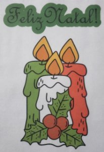 Enfeite de porta Natal - Velas