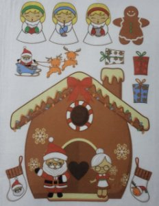 Casinha de Doce Natal - Papai Noel e Mamãe Noel
