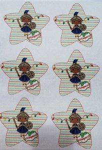 Estrelinha de Natal Orixás -Ogum