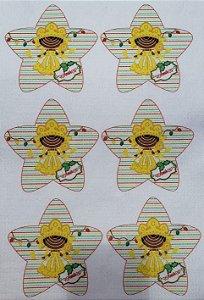 Estrelinha de Natal Orixás -Oxum