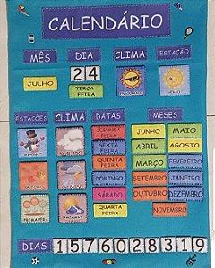 Calendário Montessoriano Português - Feltro
