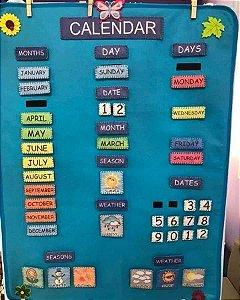 Calendário Montessoriano Inglês - Feltro