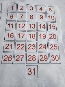 Números para calendários