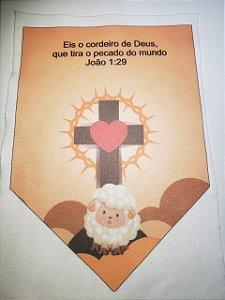 Flamula Eis o Cordeiro de Deus - com coração
