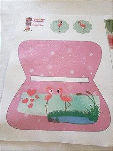 Estojo Flamingo Rosa