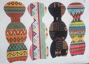 Bolsinha Chaveiro estampa Africana