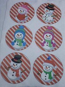 Bolinhas de Natal Boneco de Neve