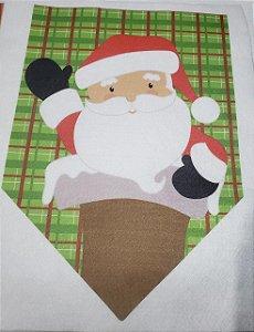 Flamula Papai Noel na Chaminé