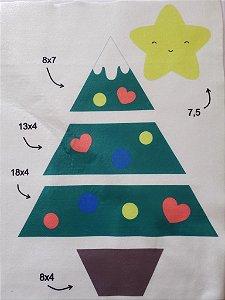 Árvore de Natal p (estampadinha)