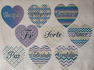 Coração colorido 2- 8
