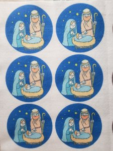 Bolinha Sagrada Família Azul