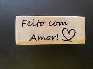 Carimbo Feito com Amor 7x3cm