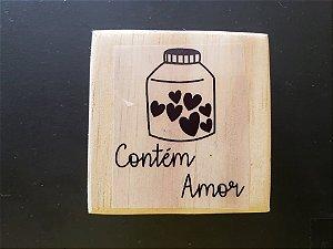 Carimbo Contém Amor 6x6