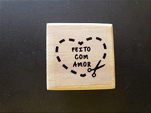 Carimbo Feito Com Amor 3x3