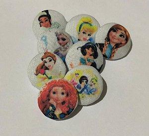 Botões Princesas com 8 unidades