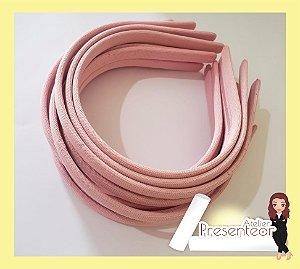 Tiara Plástica encapada 10mm rosa