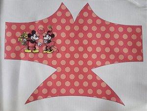Máscara de Proteção Mickey e Minnie Vermelho