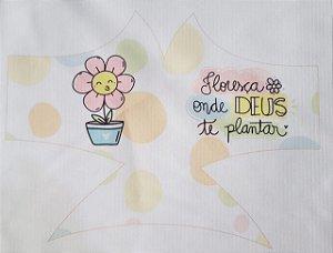 Máscara de Proteção Floresça onde Deus te plantar