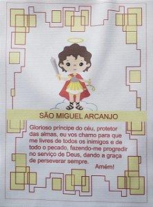 Quadro São Miguel Arcanjo + oração