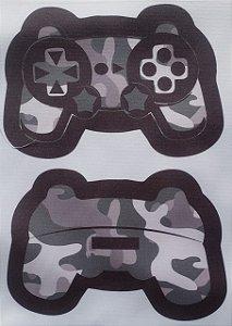 Estojo Joystick/ controle de video game Preto Camuflado