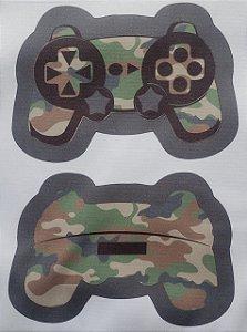 Estojo Joystick/ controle de video game Verde Camuflado