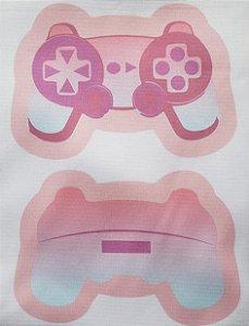Estojo Joystick/ controle de vídeo game Rosa Claro