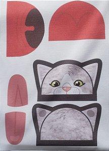 Porta moeda gatinho  Cinza
