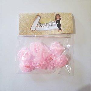 Flor de Rococó G Organza Rosa