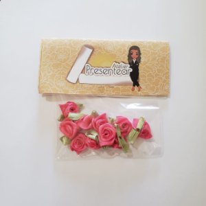 Flor de Rococó com folha Pink