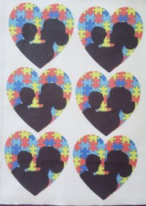Coração Silhueta Mãe Autismo 1