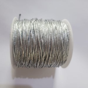 Cordão Fio Metálico 1.2mm Prata