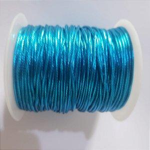 Cordão Fio Metálico 1.2mm Azul Turquesa