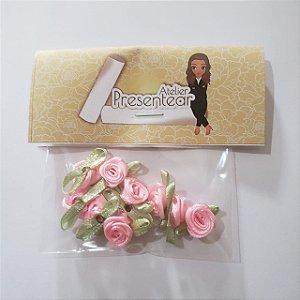 Flor de Rococó Rosa médio
