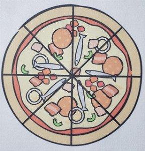 Livro Didático - Pizza fração 8