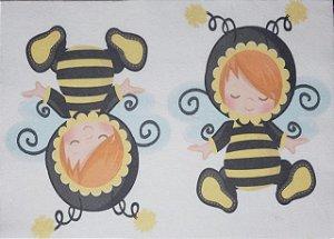 Estampa para guirlanda, Porta Retrato ou abelhinha 4