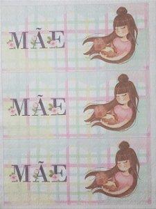 Capa para Caneca Mãe 3 aquarela