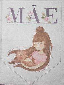 Flamula Dia das mães aquarela 2