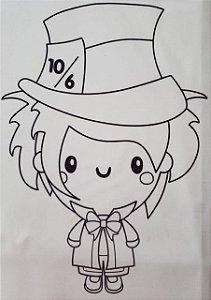 Alice para colorir 2
