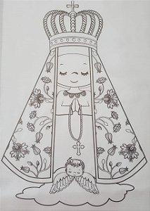 Nossa Senhora para colorir 1