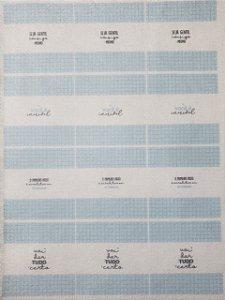 Balinha para chaveiro Frases Azul
