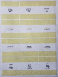Balinha para chaveiro Frases Amarelo