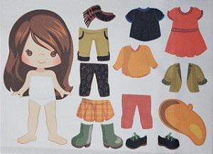Menina de vestir cute 3